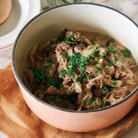 「牛肉とミックスきのこのサワー煮」レシピ/ワタナベマキさん