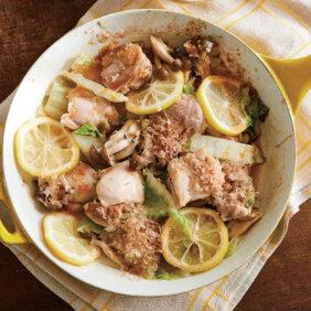 「鶏もものレモン蒸し炒め」レシピ/きじまりゅうたさん
