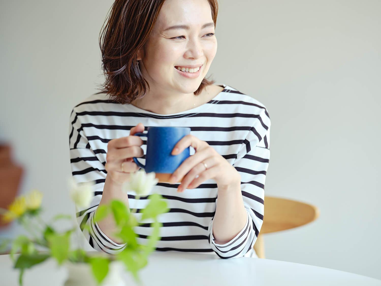 朝、ゆっくりコーヒーが飲めるとそれだけで気持ちに余裕が(Emiさん)