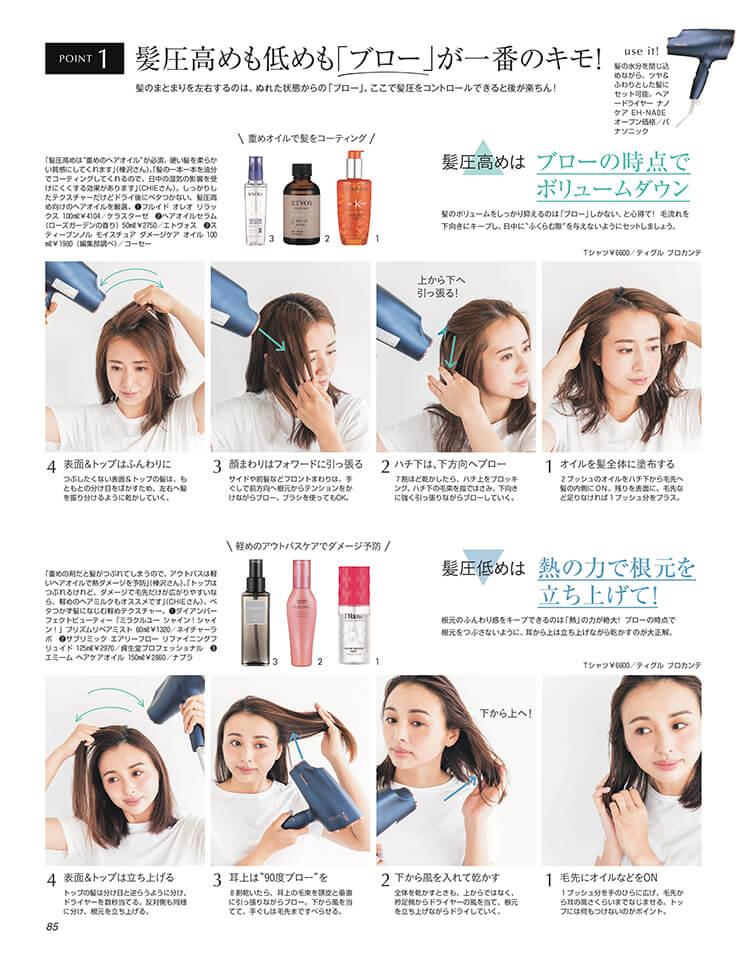 【LEE2021年7月号】湿気の季節の「髪圧」コントロールケア
