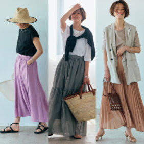 【2021夏】揺れスカート×Tシャツコーデ4選!大人におすすめなのはこのタイプ