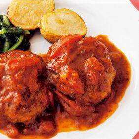 アイキャッチ画像:「小さめハンバーグのトマトソース」レシピ/野口真紀さん