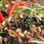 アイキャッチ画像:「ほうれん草、牛肉、春雨のチャプチェ風」レシピ/青山有紀さん