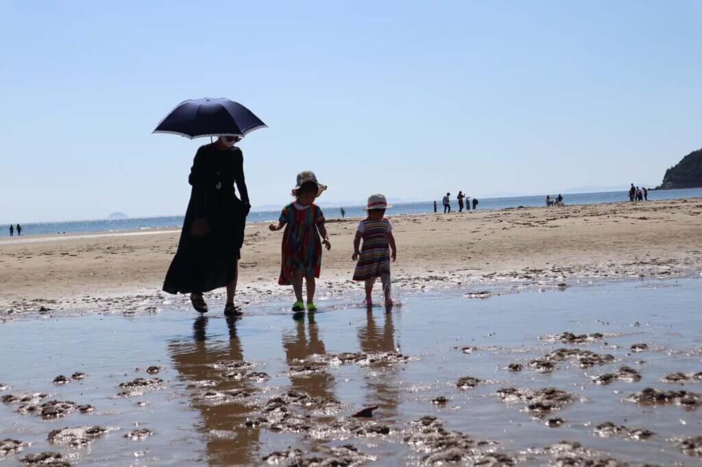 香川の人気スポット「父母が浜」に行ったときの写真。