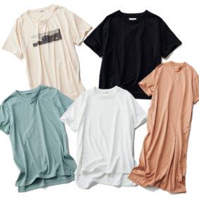 """【""""楽映え""""Tシャツ5選】ストレスフリーなのに体がキレイに見えるTシャツをご紹介!"""