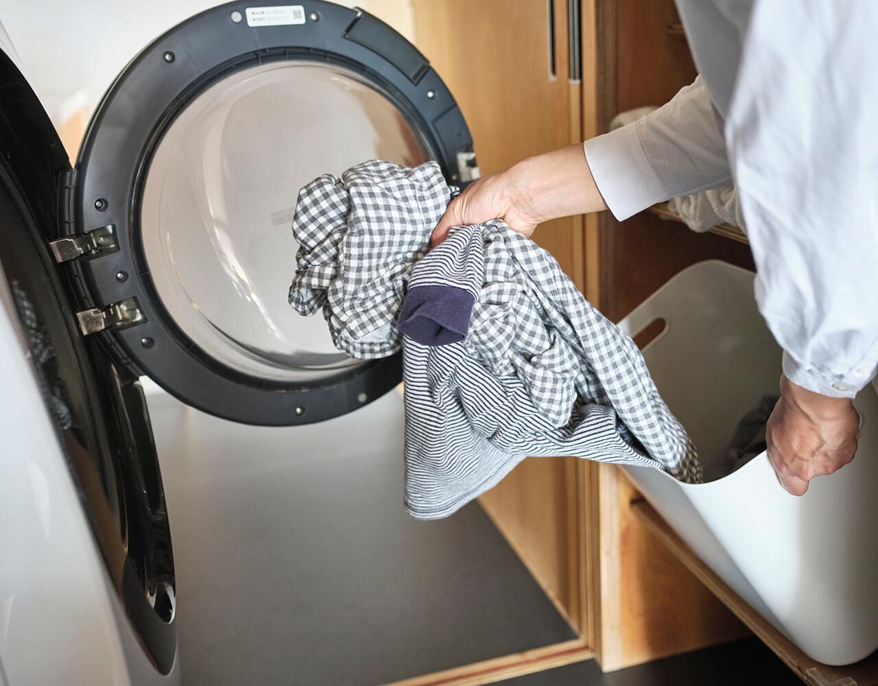 本多さおりさんの洗濯かご