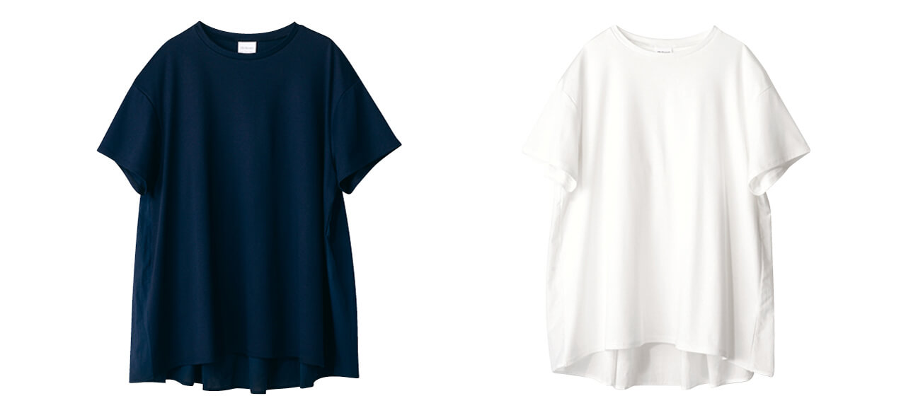 12closet 【洗える】バックフレアT