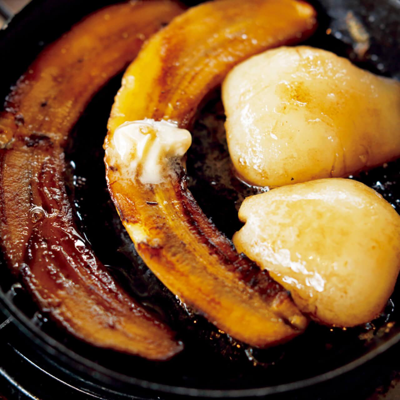 「バナナと洋梨のフランベ」レシピ/ワタナベマキさん
