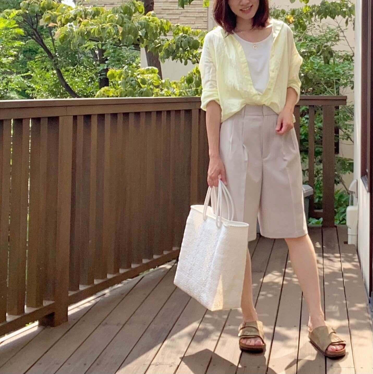 GUで購入!「大人のハープパンツ」でコーデ3パターン!【2021・夏トレンドのバミューダパンツ!】