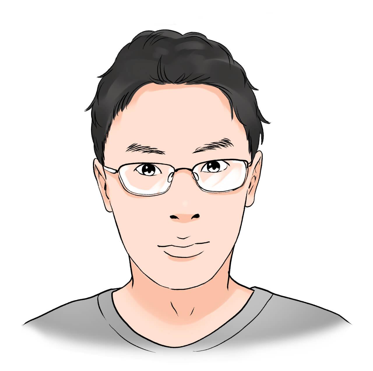 季絵さん夫眼鏡