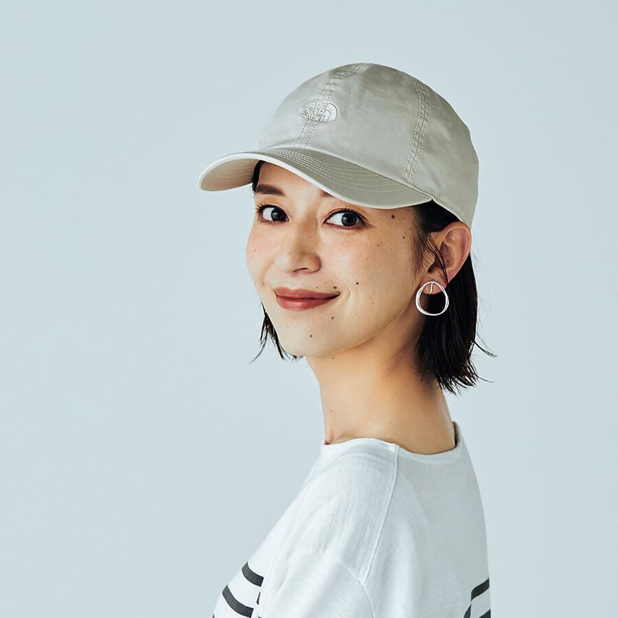 LEEキャラクター渡辺麻里子さん 帽⼦¥7150/ゴールドウイン カスタマーサービスセンター(ザ・ノース・フェイス)