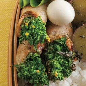 「菜の花の梅豚巻き」レシピ/ワタナベマキさん