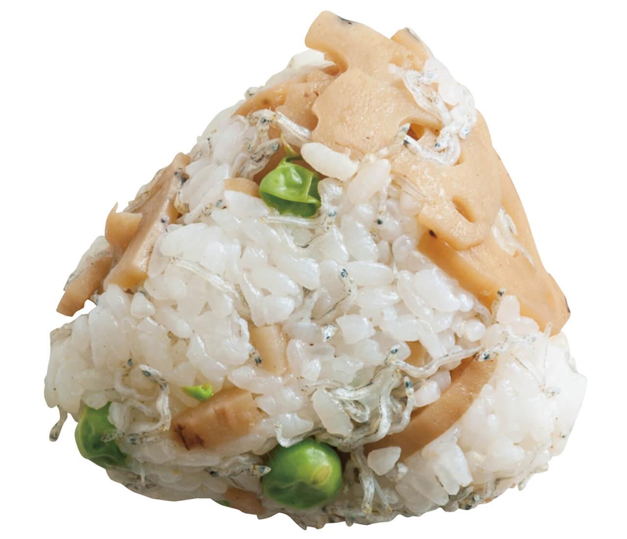 「じゃこ、れんこん、グリーンピースのおにぎり」レシピ/ワタナベマキさん
