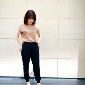 アイキャッチ画像:12closet裾リブとろみパンツ