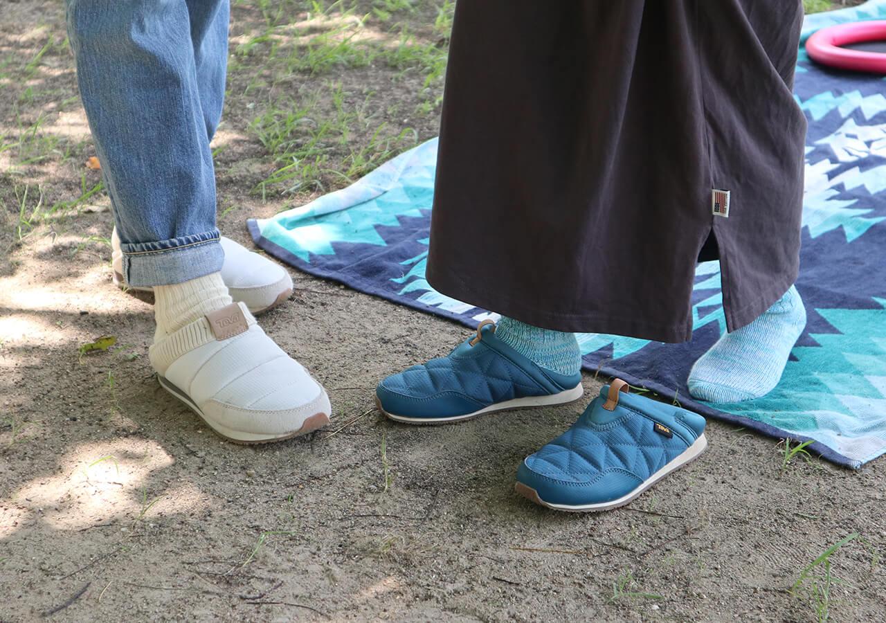 「リ エンバーモック 2」は、かかとを踏んでも履ける2WAY仕様