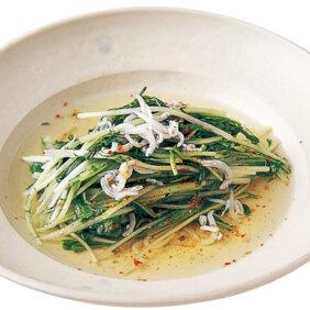 「水菜とシラス干しの煮びたし」レシピ/行正り香さん