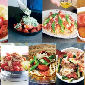 【簡単!トマトの夏バテ解消レシピ9選】ひんやりトマトでさっぱり麺、ごはん&副菜