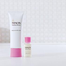 夏枯れ敏感肌はミノン アミノモイスト エイジングケアラインの「やさしさ+αのケア」でツヤハリ肌へ!