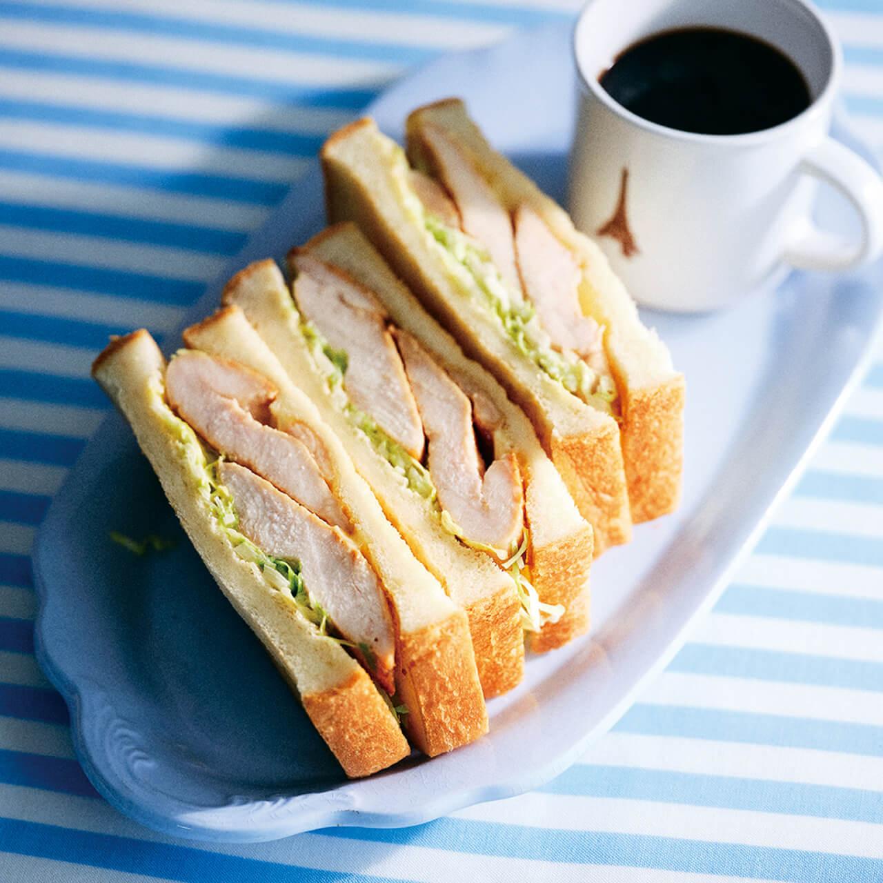「鶏むねソテーのサンドイッチ」レシピ/きじまりゅうたさん