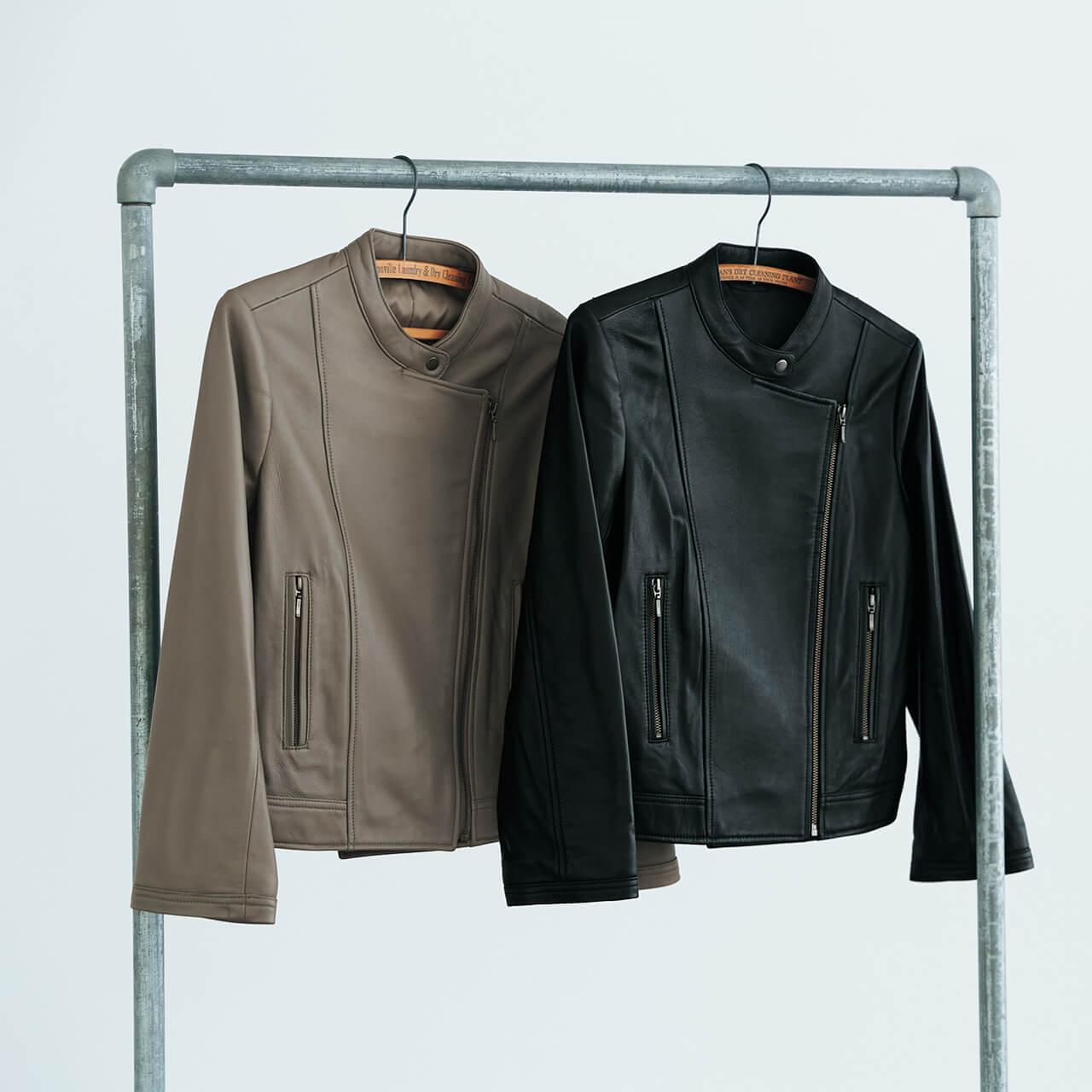 12closet 羊革ライダースジャケット