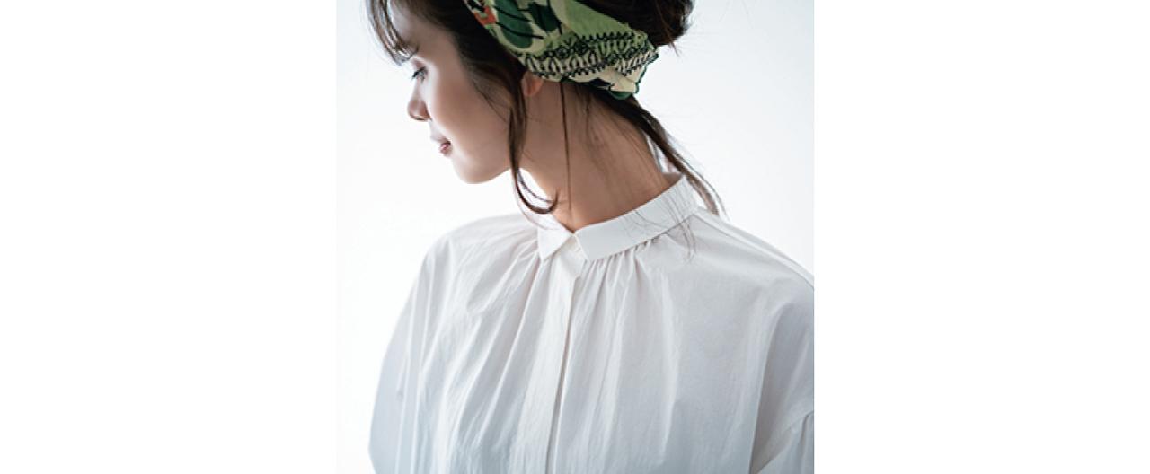 12closet 【洗える】ミニ襟シャツワンピース