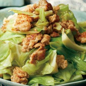 「鶏ひき肉とキャベツの柚子こしょう炒め」レシピ/小林まさみさん