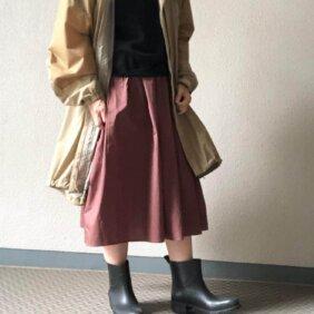 【ワークマンで購入】撥水スカートで雨の日コーデ!【2021・リアル購入品】