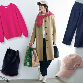 デイリーカジュアルな装いもスタイリッシュに仕上げる、サンヨーコートの「ステンカラーコート」