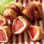 「トマトの豚肉ロール揚げ」レシピ/重信初江さん