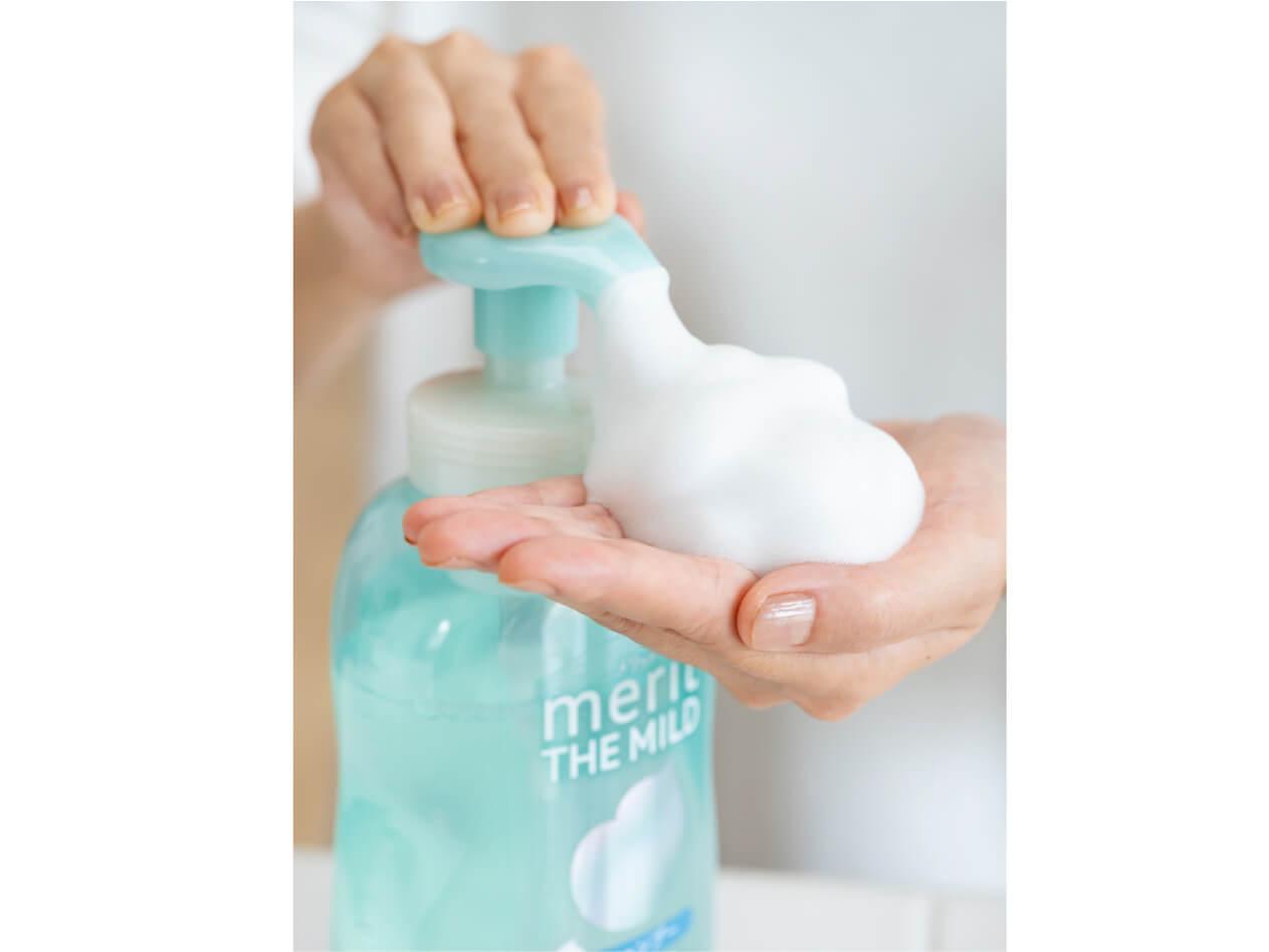 「メリット ザ マイルド」のふわもこ泡