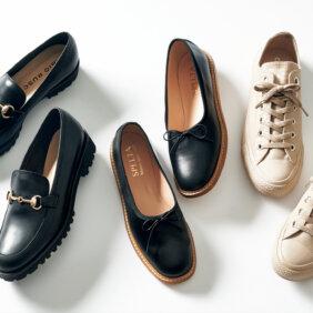 スニーカー、バレエシューズ、ローファー…信頼ブランドからセレクトした、フラット靴3選