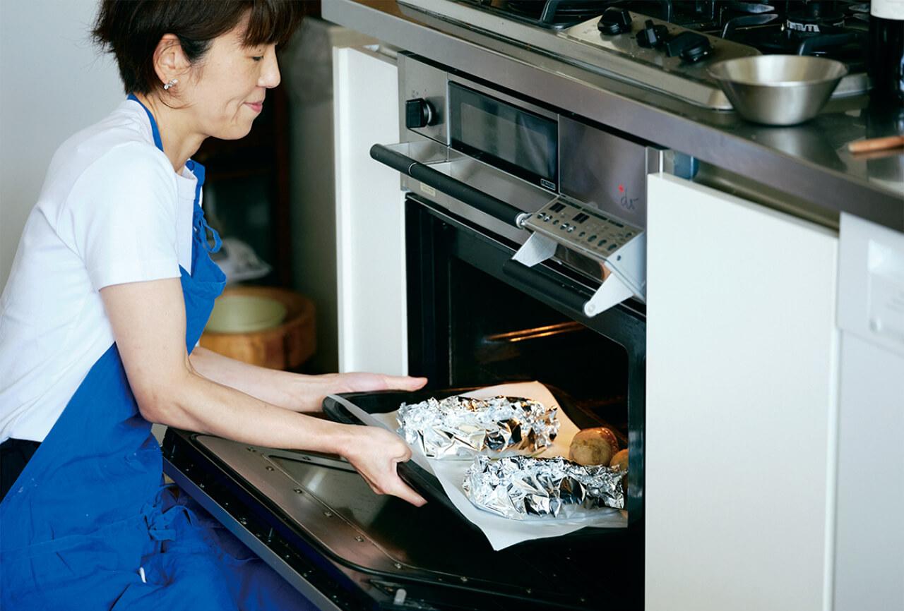 ハンバーグはオーブンで仕上げるのが一番おいしい